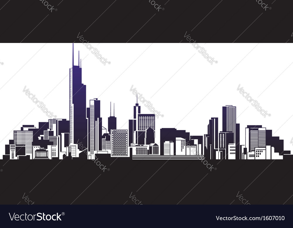 City silhouettes vector | Price: 1 Credit (USD $1)