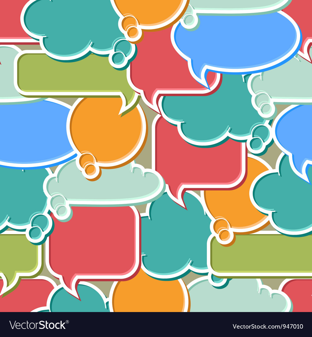 Colorful speech bubbles background vector | Price: 1 Credit (USD $1)