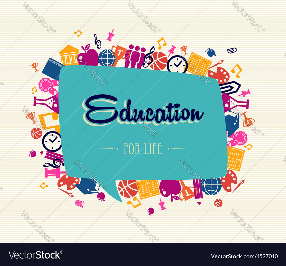 Education back to school social bubble global vector | Price: 1 Credit (USD $1)