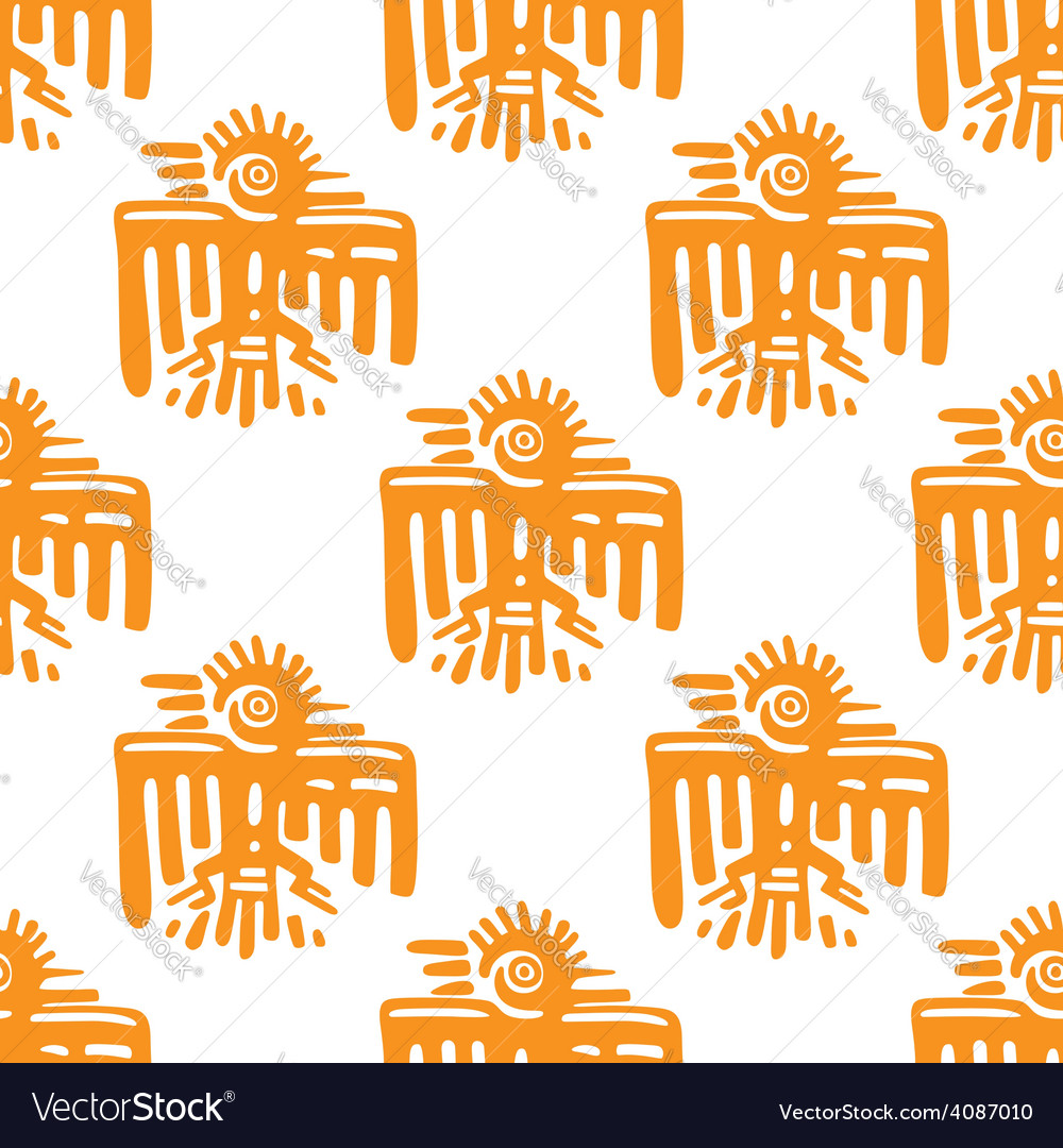 Maya art seamless pattern vector | Price: 1 Credit (USD $1)