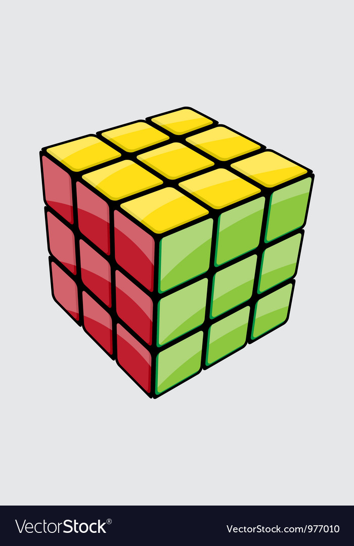 Rubik cube vector | Price: 1 Credit (USD $1)