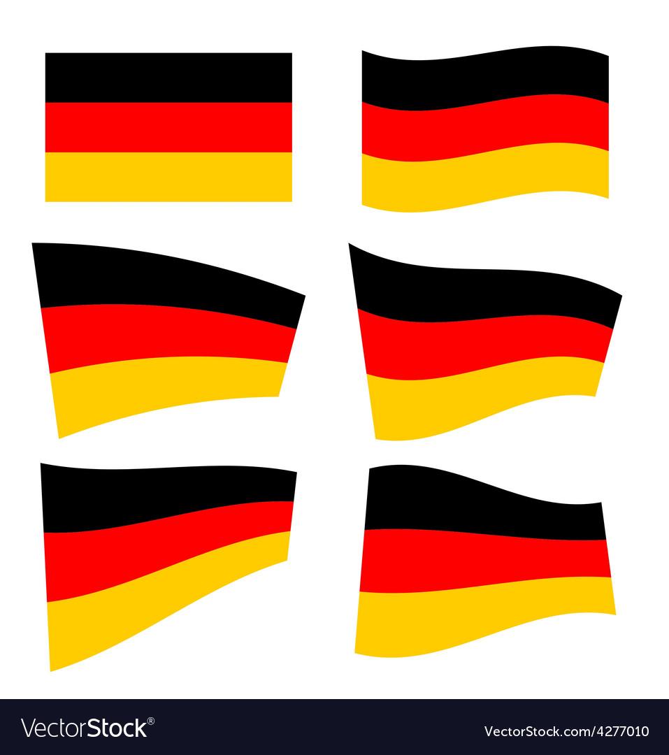Set of german flags vector | Price: 1 Credit (USD $1)