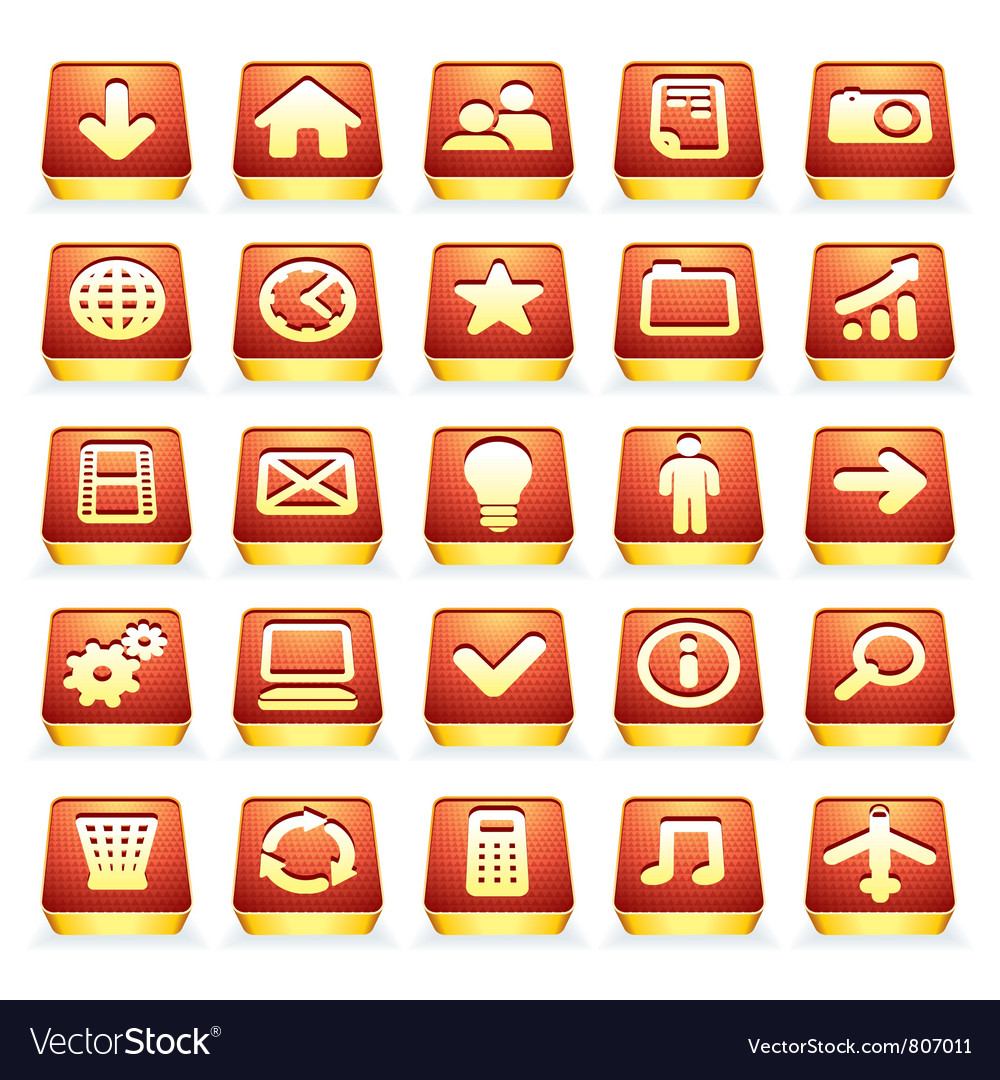3d interface icons vector | Price: 1 Credit (USD $1)