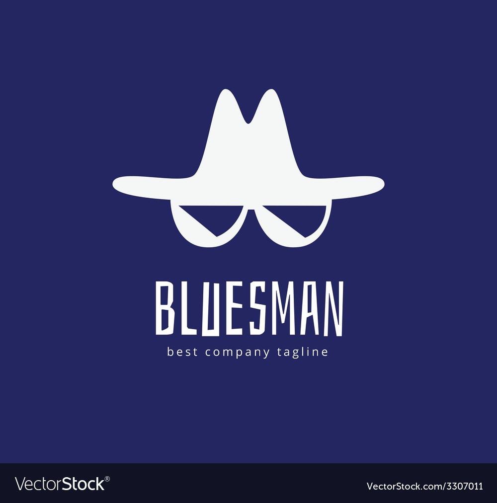 Abstract blues face logo icon concept logotype vector | Price: 1 Credit (USD $1)