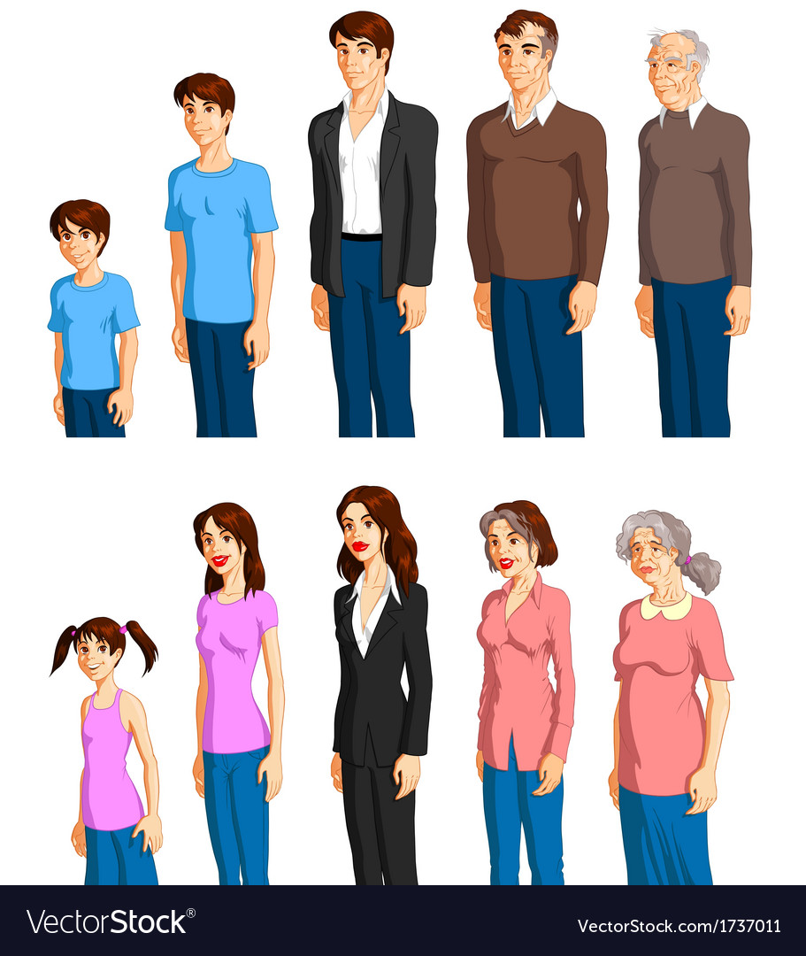 Aging process vector | Price: 3 Credit (USD $3)