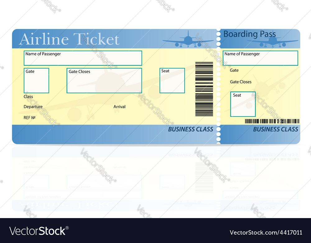 Airline ticket 03 vector | Price: 1 Credit (USD $1)