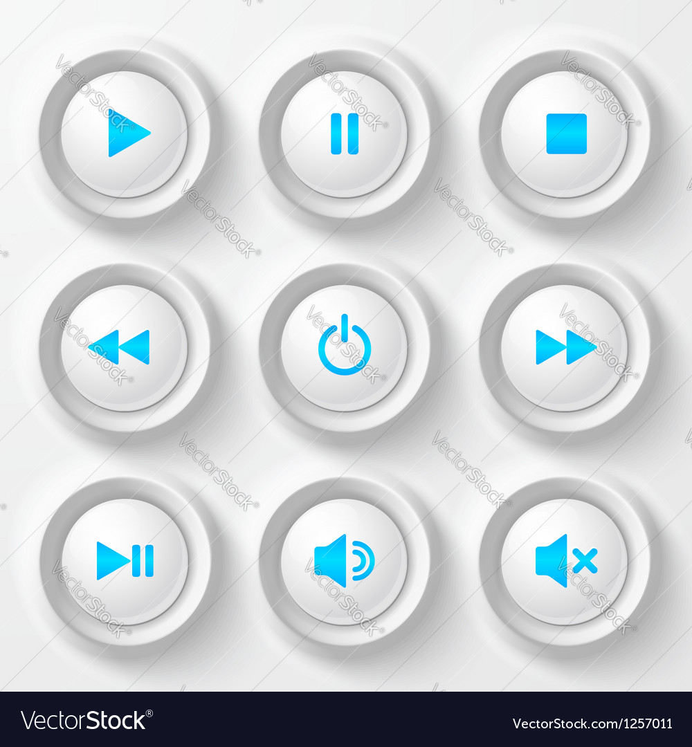Blue plastic navigation buttons vector | Price: 1 Credit (USD $1)