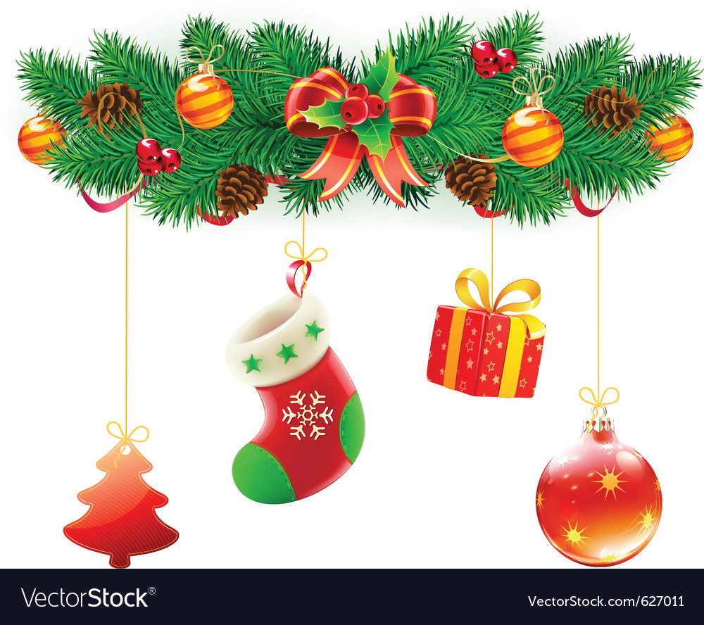 Christmas composition vector | Price: 3 Credit (USD $3)