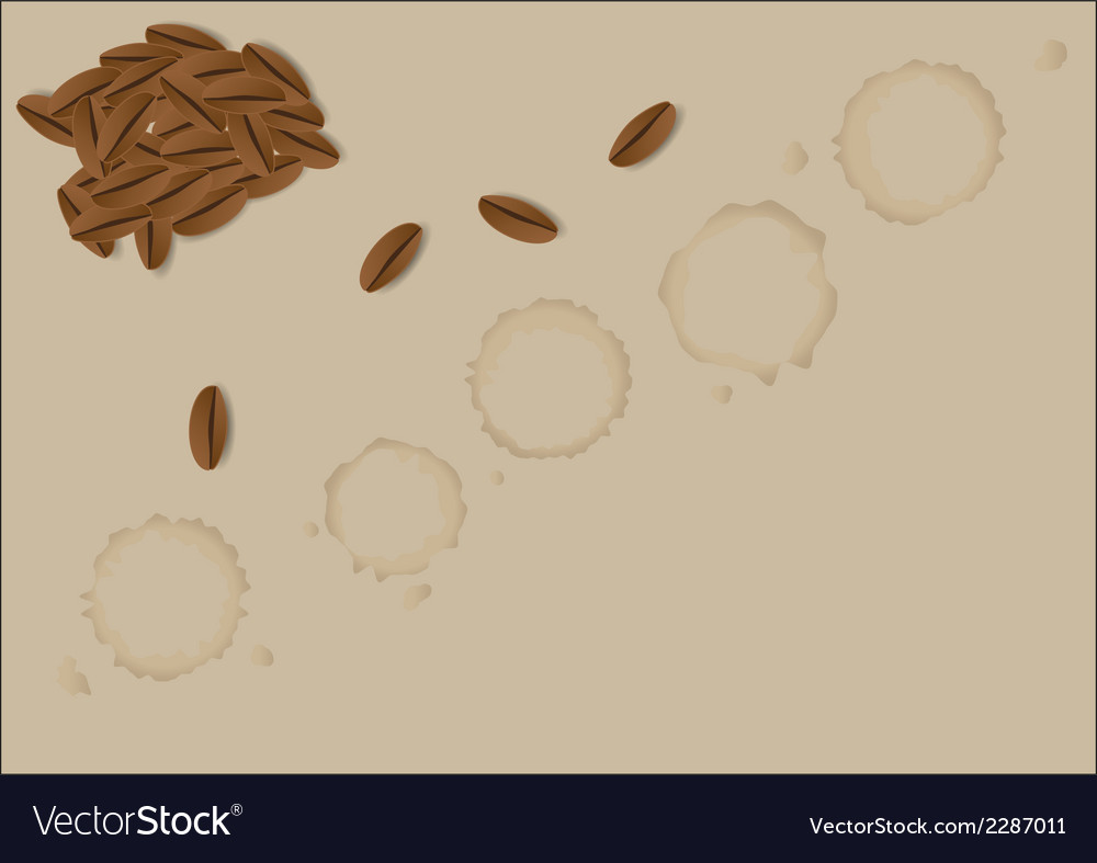 Coffee grains vector | Price: 1 Credit (USD $1)
