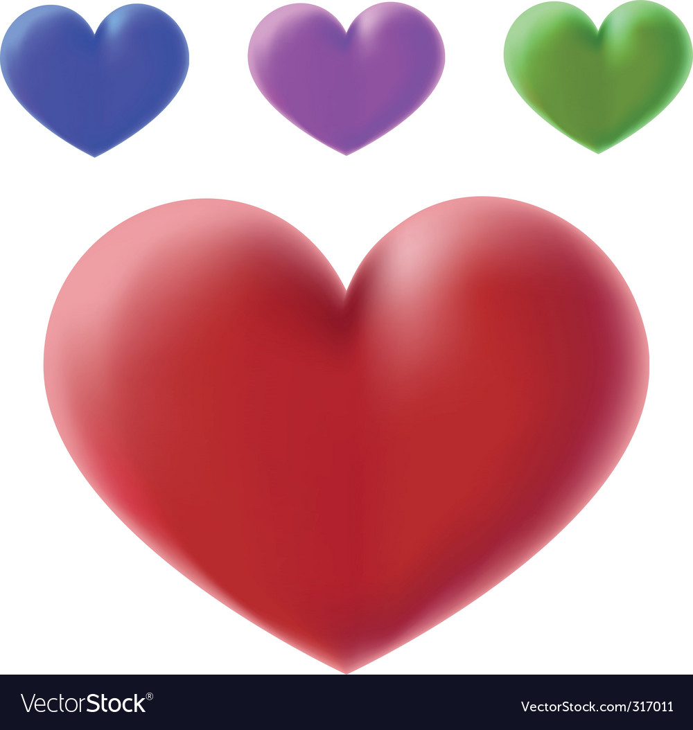 Colour 3d hearts vector | Price: 1 Credit (USD $1)