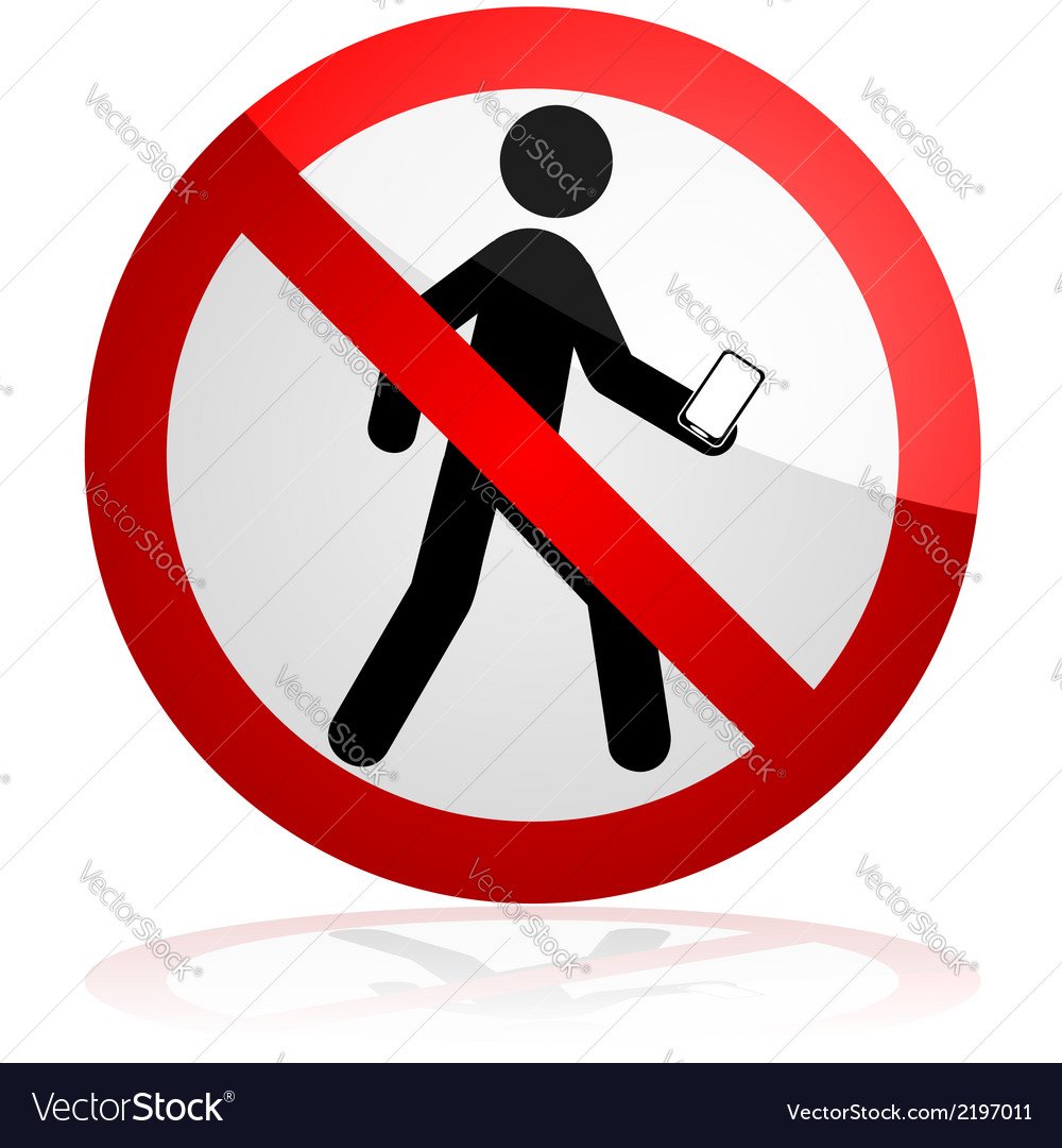 Do not walk and text vector | Price: 1 Credit (USD $1)
