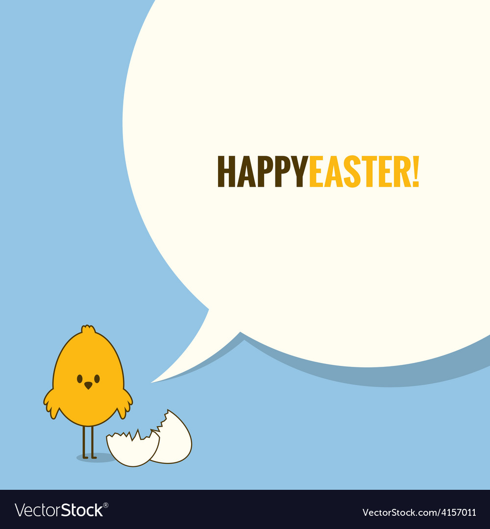 Easter social media concept background vector | Price: 1 Credit (USD $1)