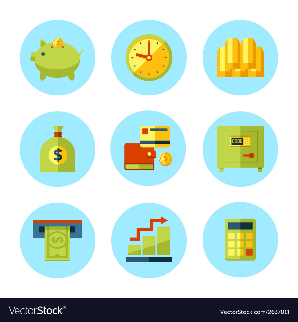 Finance and money icon set vector | Price: 1 Credit (USD $1)