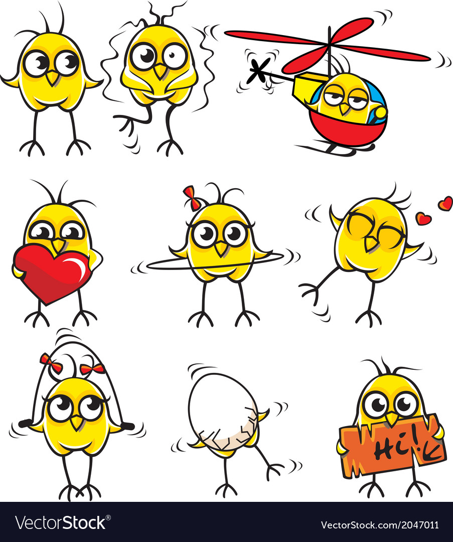 Funny chickens vector | Price: 1 Credit (USD $1)