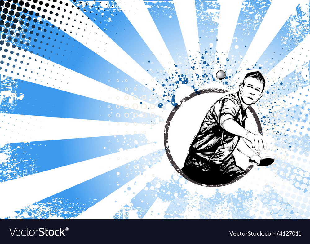 Ping pong poster vector | Price: 3 Credit (USD $3)