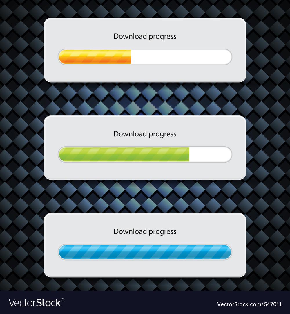 Preloader progress web downloading bar vector | Price: 1 Credit (USD $1)