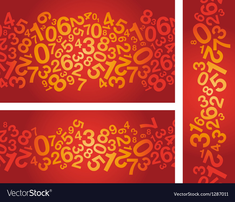 Red number background vector | Price: 1 Credit (USD $1)