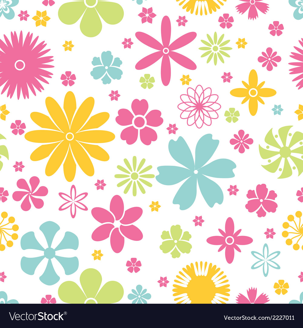 Seamless pattern of spring and summer flowers vector | Price: 1 Credit (USD $1)
