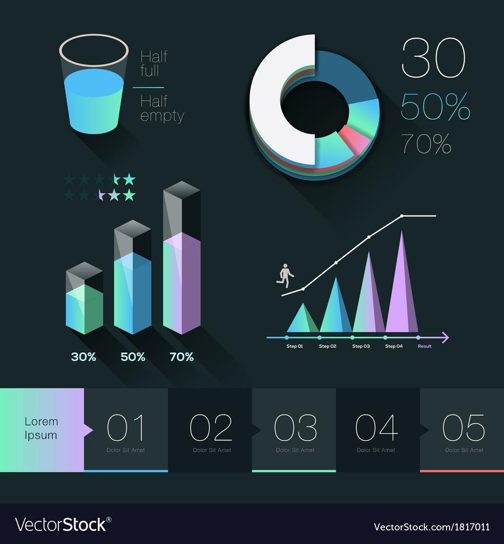 Set elements of info graphics vector | Price: 1 Credit (USD $1)