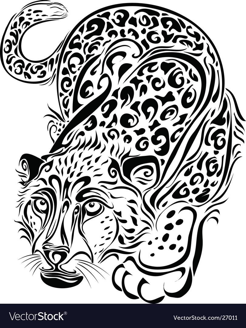 Silhouette of the leopard vector | Price: 1 Credit (USD $1)