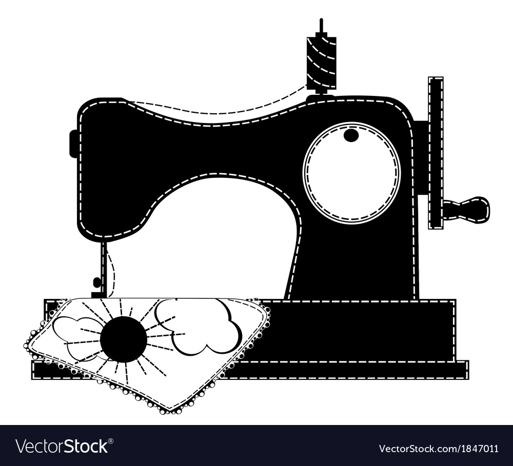 Silhouette of the sewing machine vector | Price: 1 Credit (USD $1)