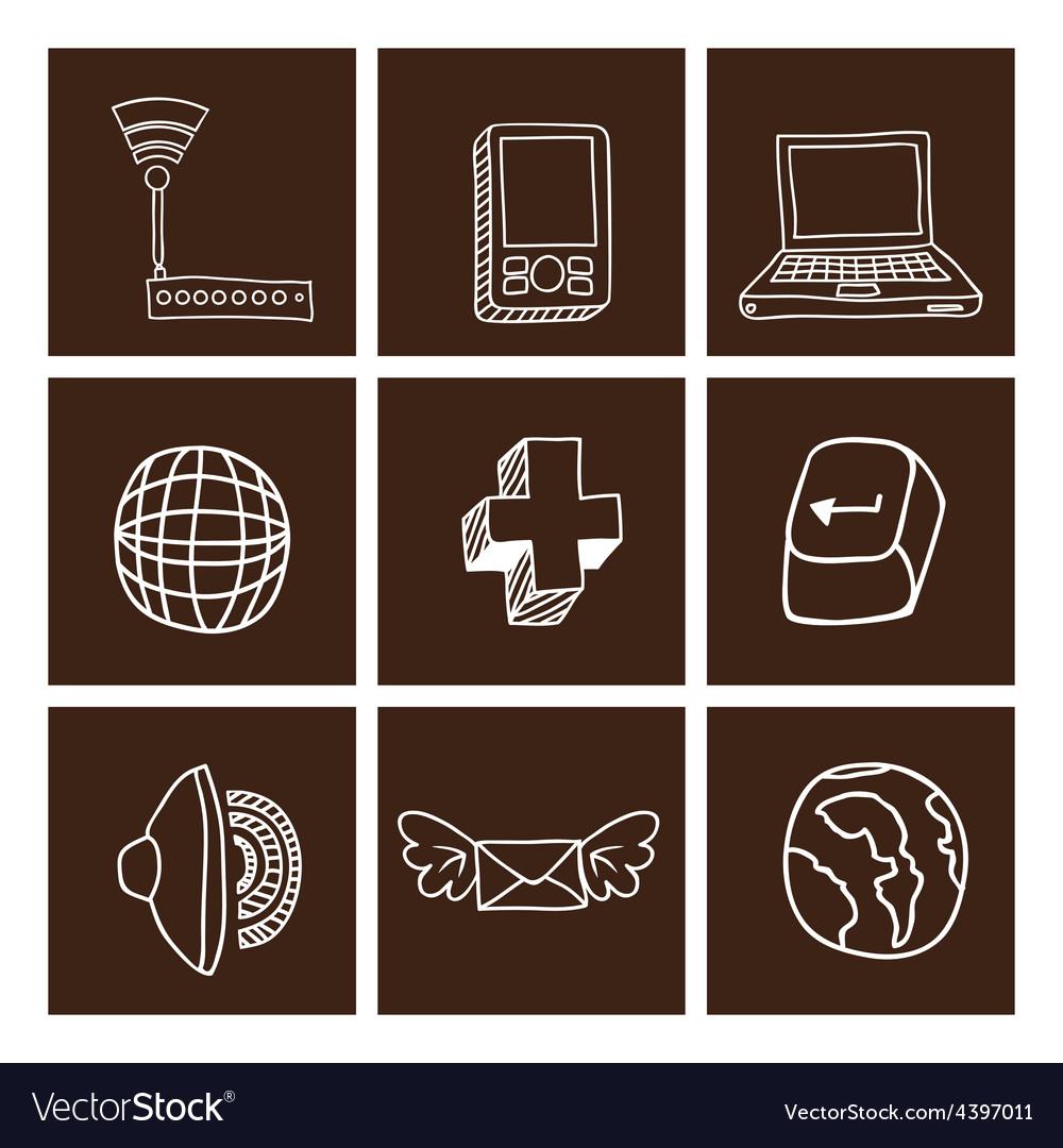 Technology and multimedia design vector | Price: 1 Credit (USD $1)