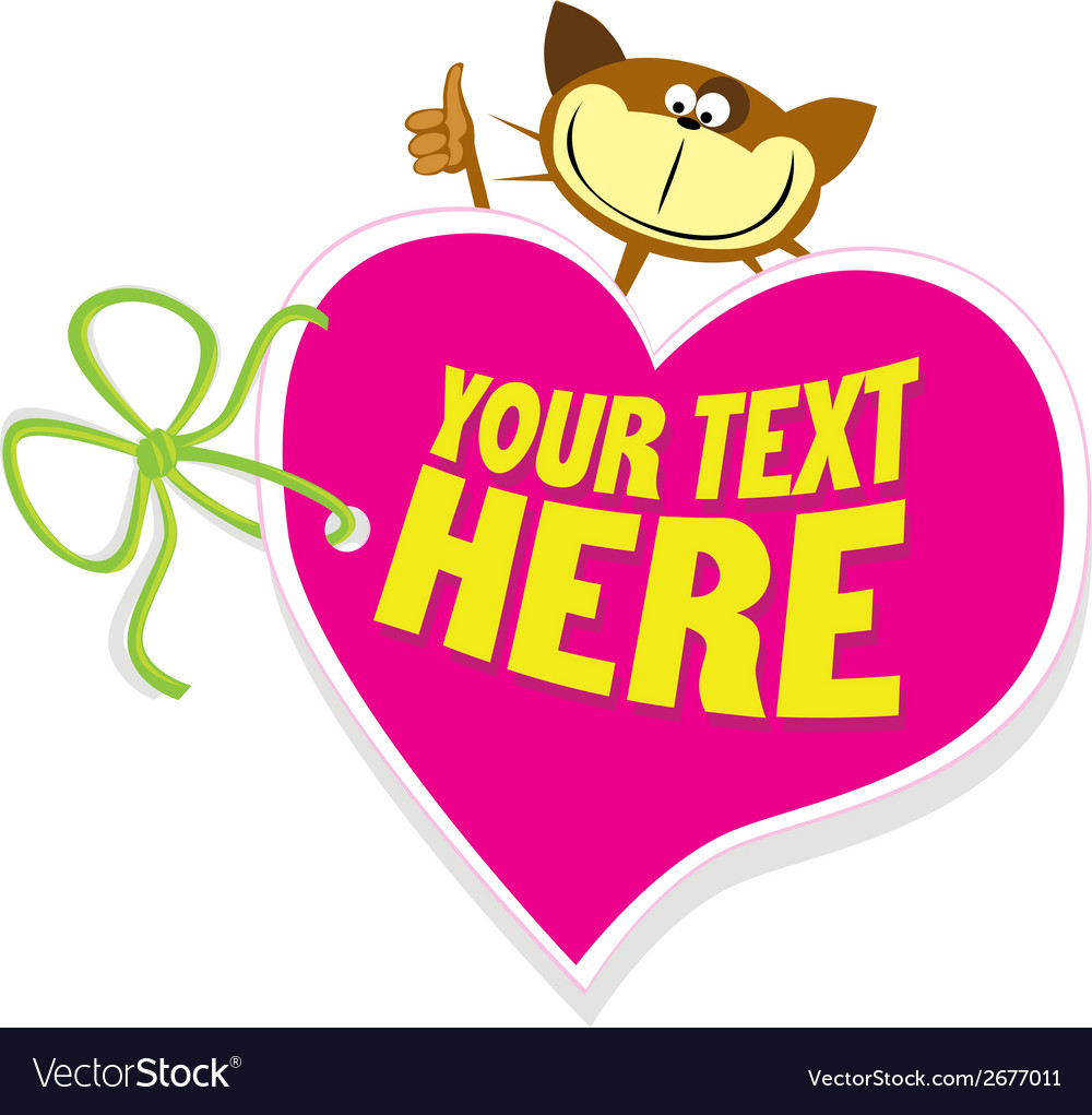 Valentine tag vector | Price: 1 Credit (USD $1)