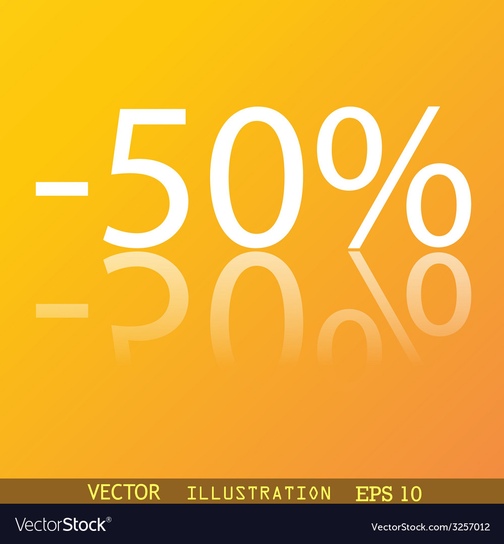 50 percent discount icon symbol flat modern web vector | Price: 1 Credit (USD $1)