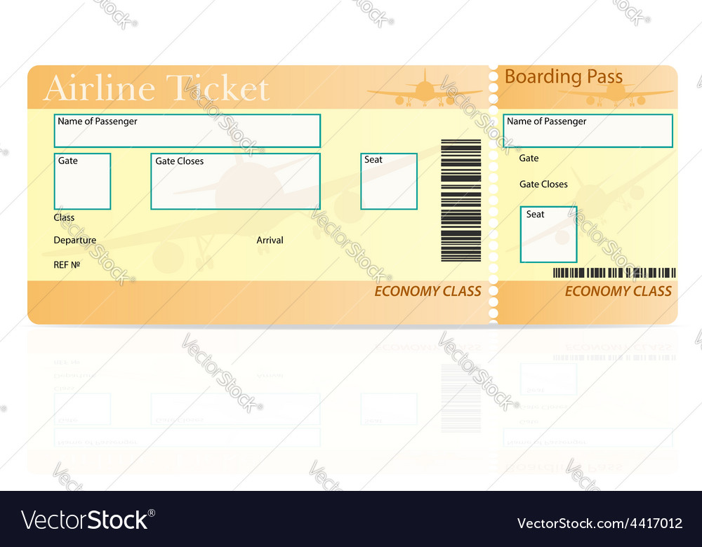 Airline ticket 04 vector | Price: 1 Credit (USD $1)