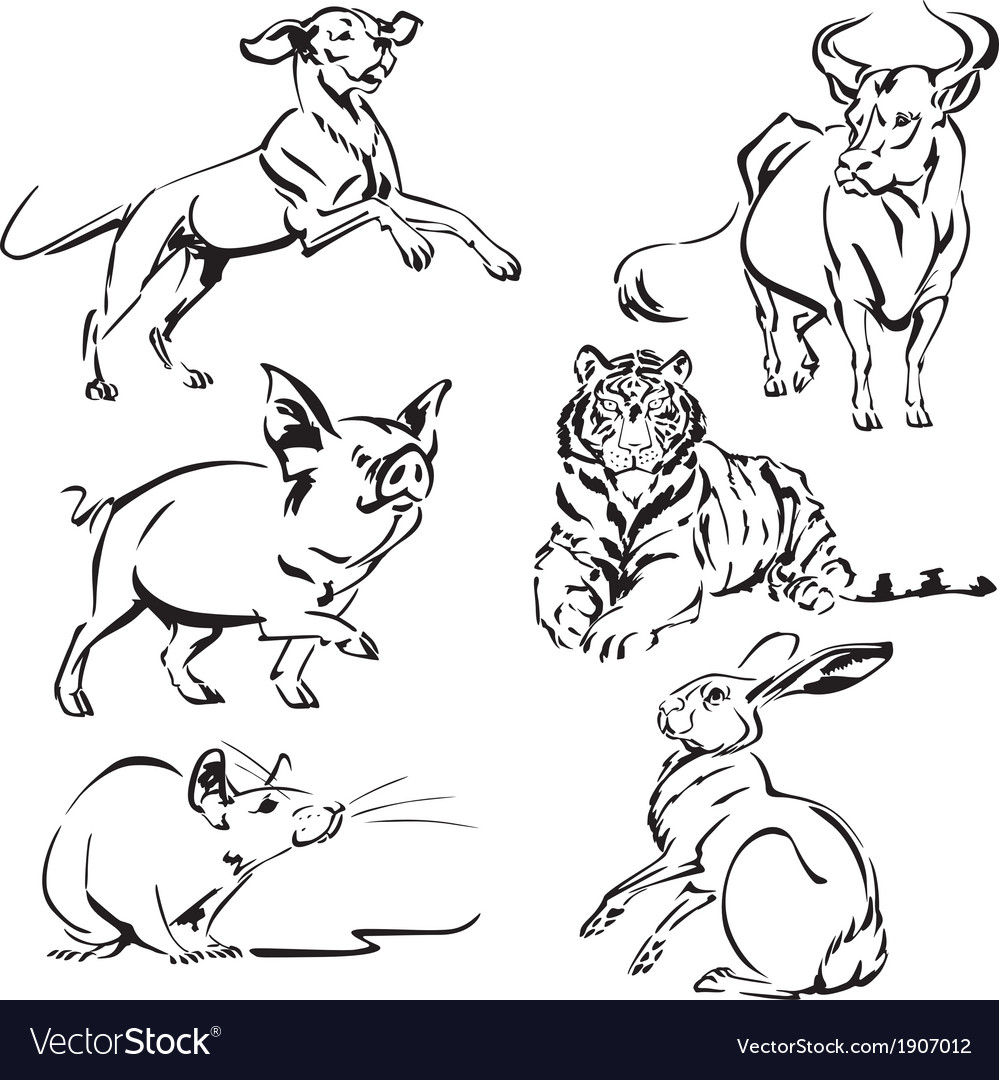 Asian zodiac2 vector | Price: 1 Credit (USD $1)
