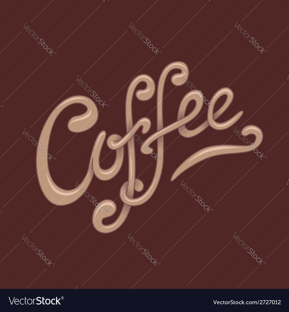 Coffee lettering vector | Price: 1 Credit (USD $1)