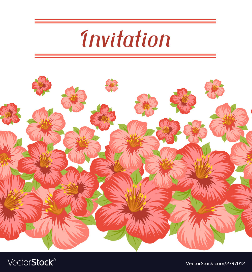 Design of invitation card with pretty stylized vector | Price: 1 Credit (USD $1)