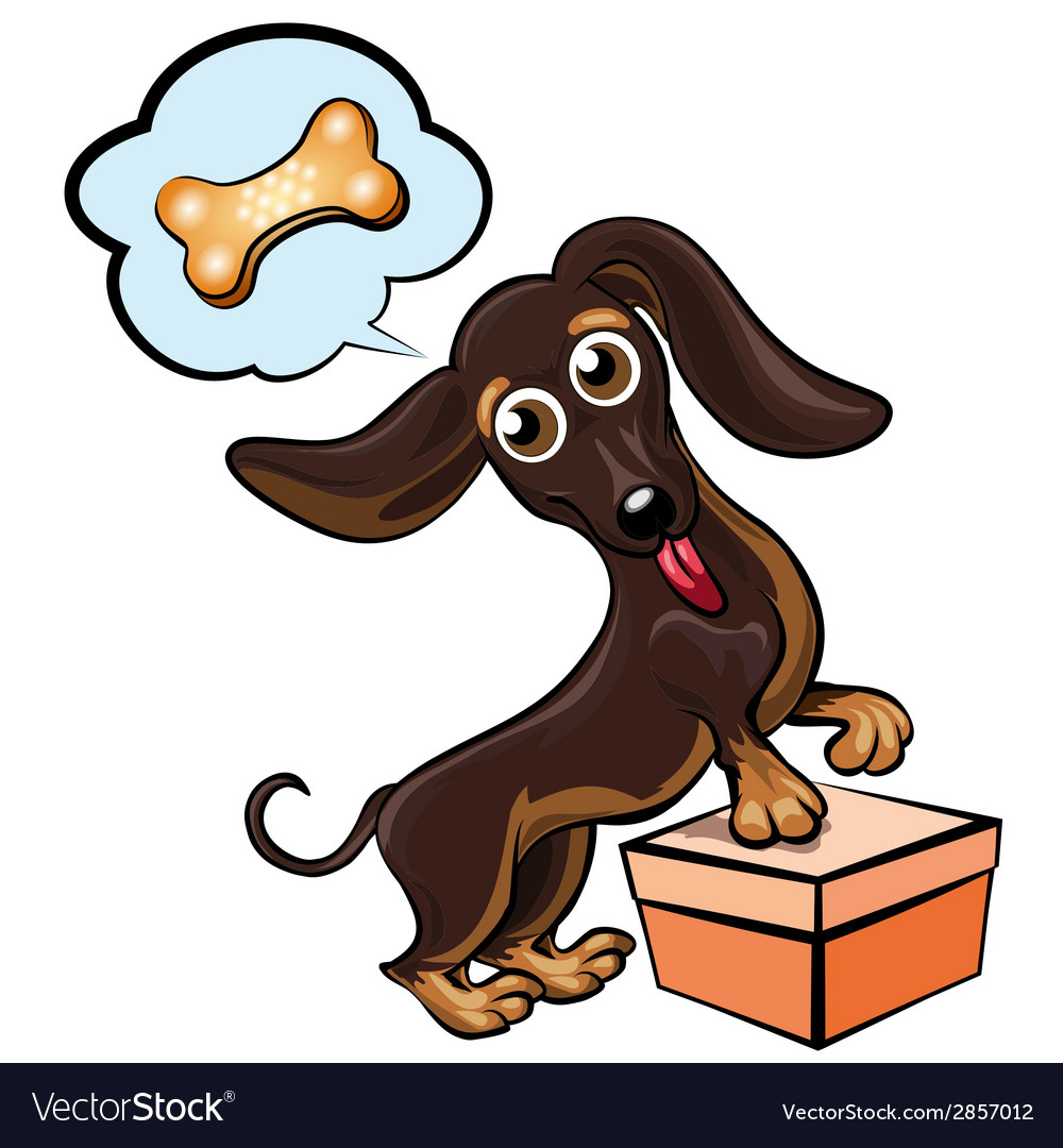 Dreaming dachshund vector | Price: 1 Credit (USD $1)