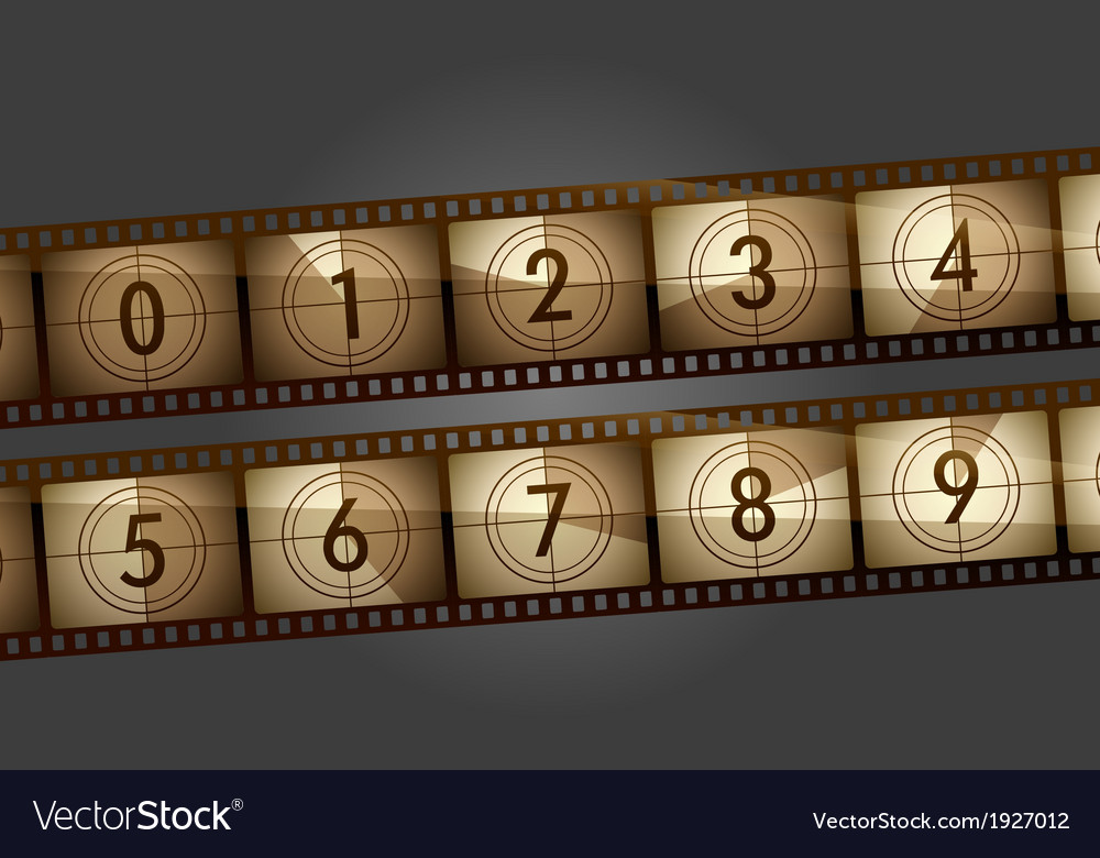 Film countdown vector | Price: 1 Credit (USD $1)