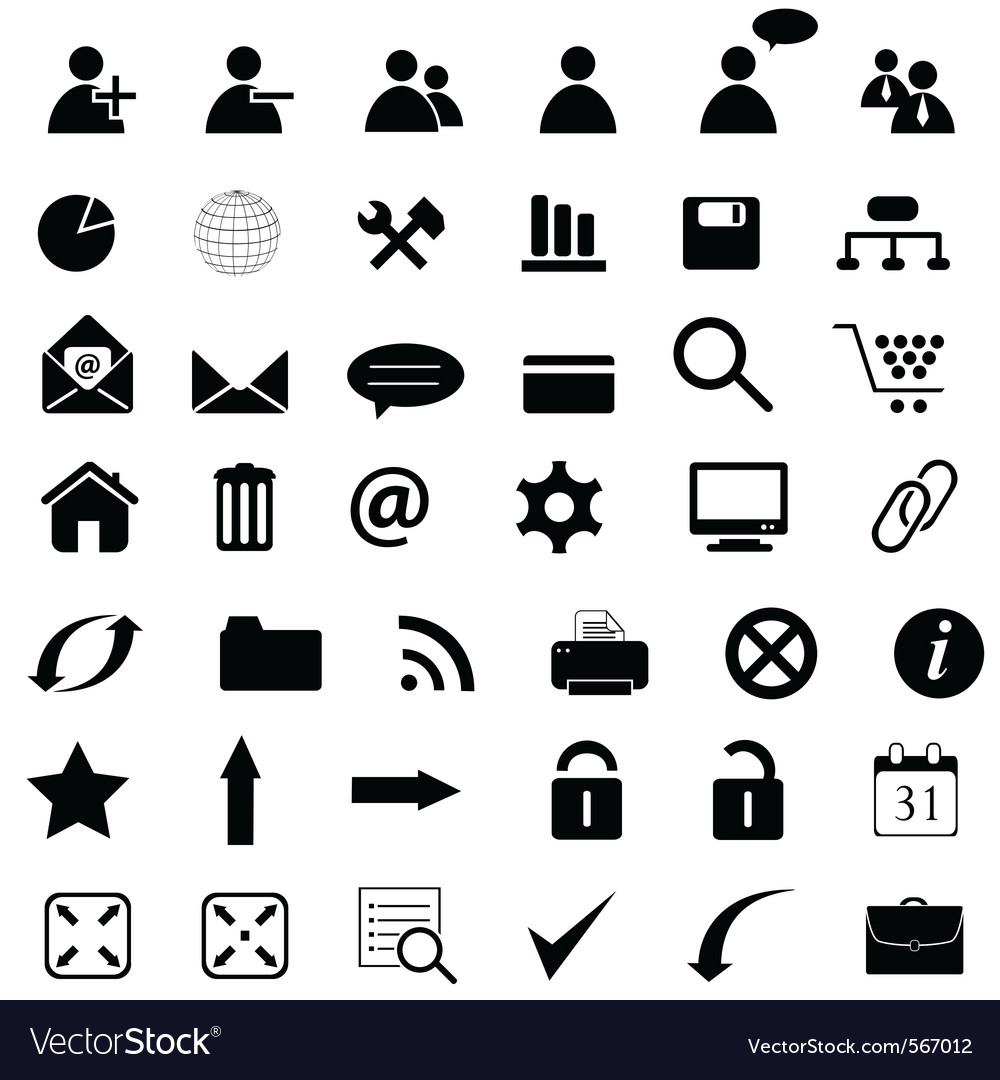 General web icons vector | Price: 1 Credit (USD $1)