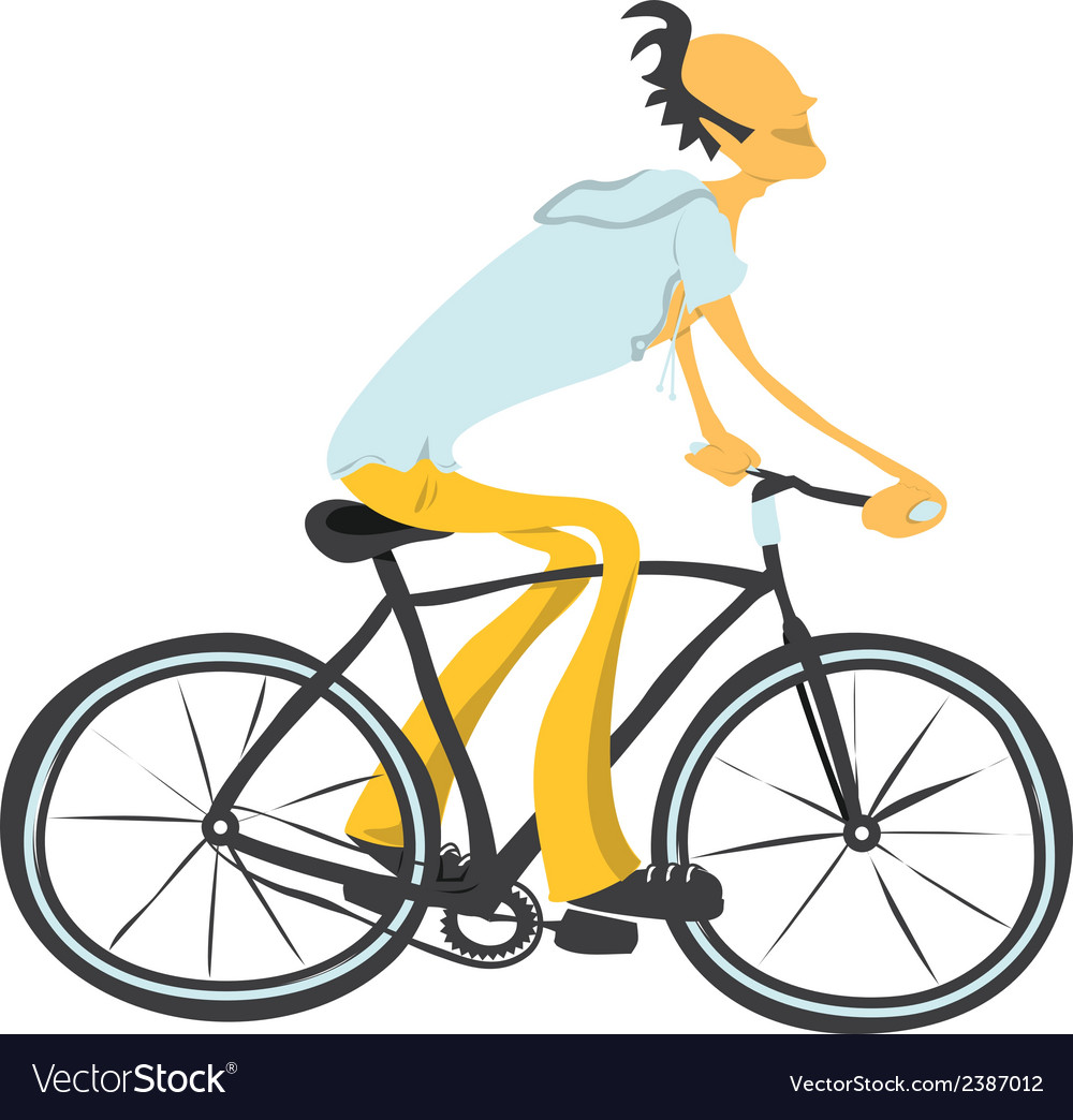 Man on a bicycle vector | Price: 1 Credit (USD $1)