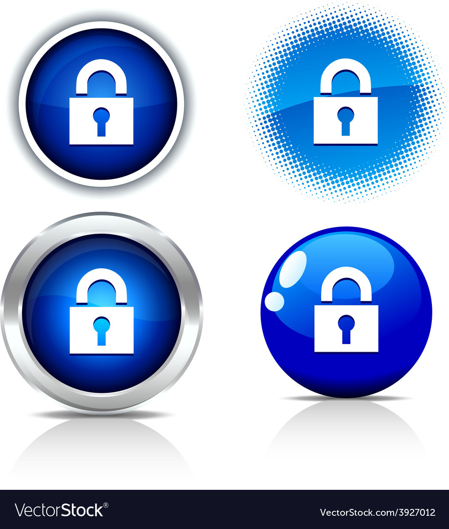 Padlock buttons vector | Price: 1 Credit (USD $1)