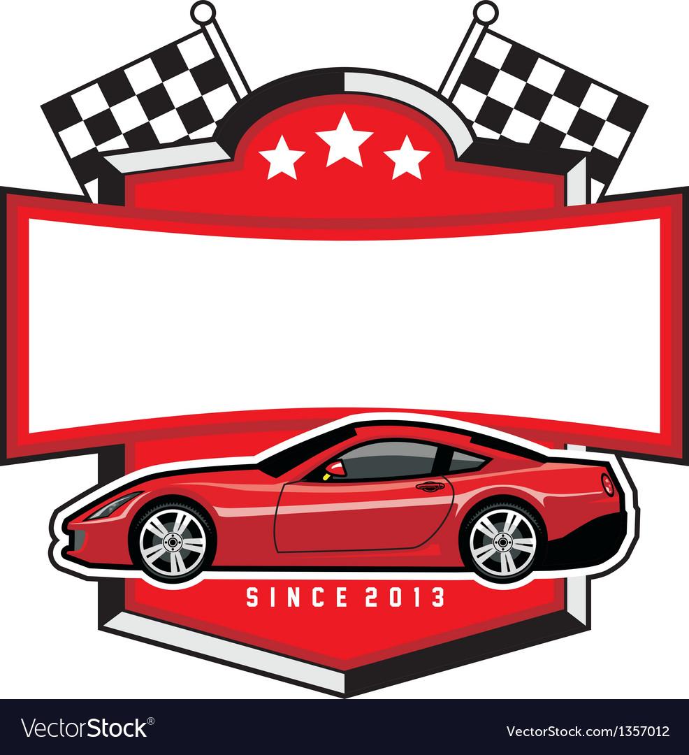 Racing car badge club vector | Price: 1 Credit (USD $1)