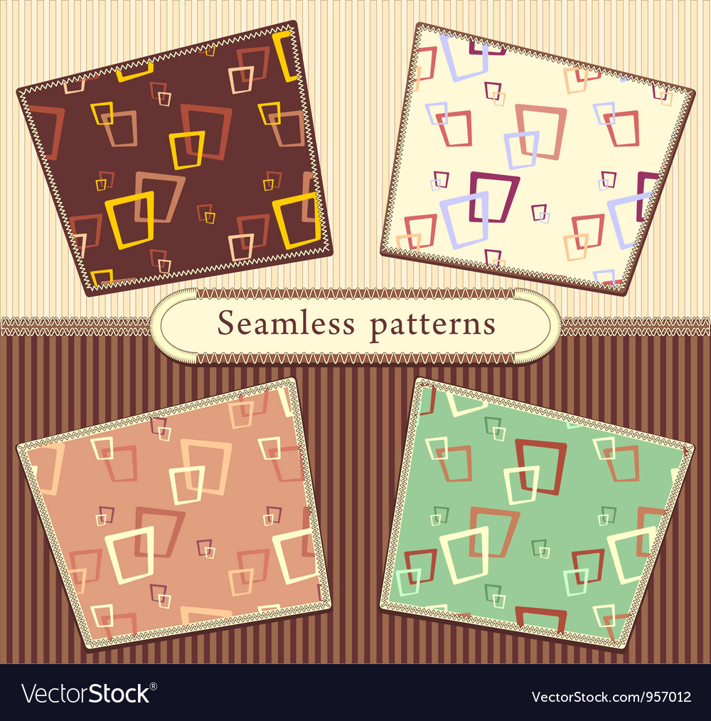 Set seamless abstract geometric patterns vector | Price: 1 Credit (USD $1)