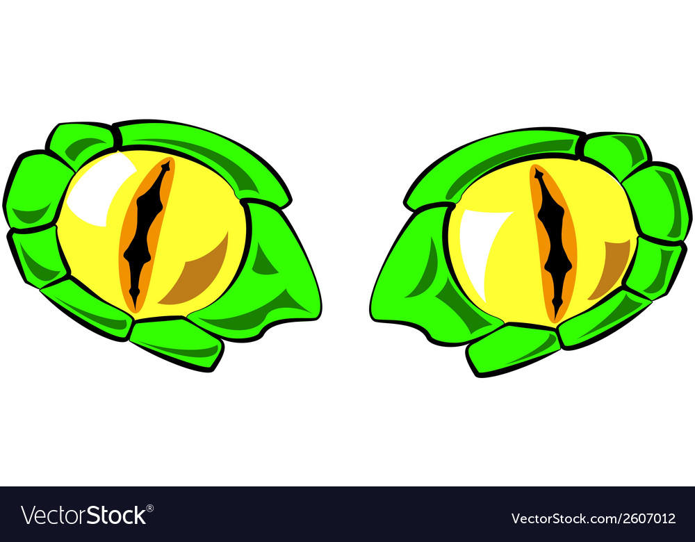 Snake eyes - in color vector | Price: 1 Credit (USD $1)