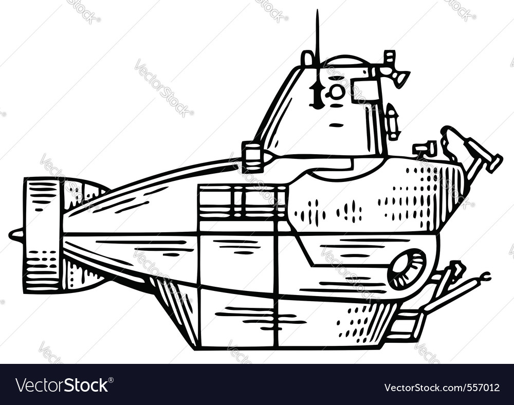 Submarine vector | Price: 1 Credit (USD $1)