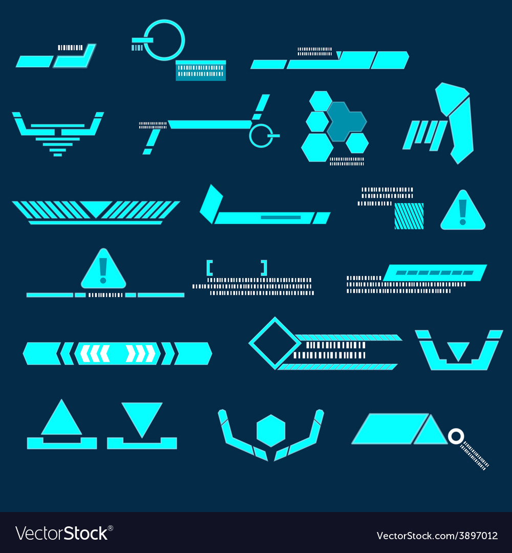 Technology blue line modern vector | Price: 1 Credit (USD $1)