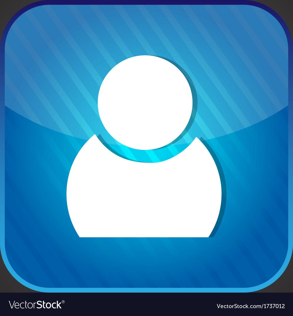 User icon - blue app button vector | Price: 1 Credit (USD $1)