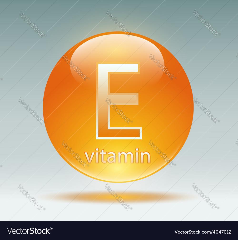 Vitamin e vector | Price: 1 Credit (USD $1)