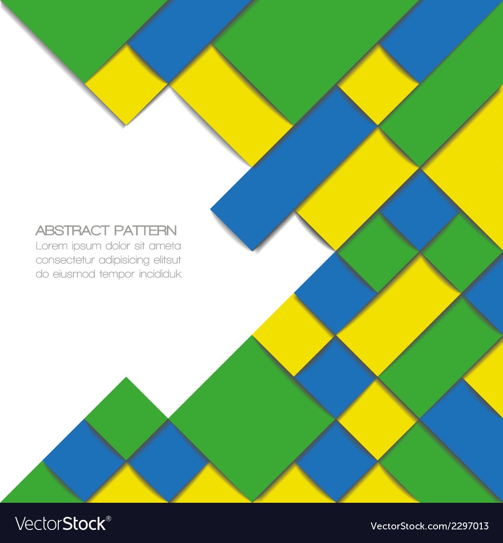 Abstract geometric background in brazil flag color vector | Price: 1 Credit (USD $1)
