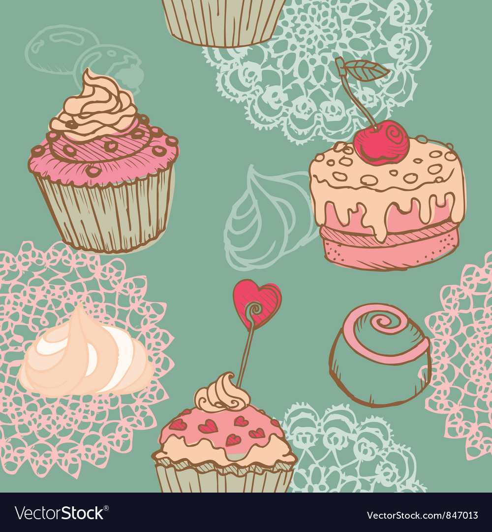 Cakes sweets and desserts vector | Price: 1 Credit (USD $1)