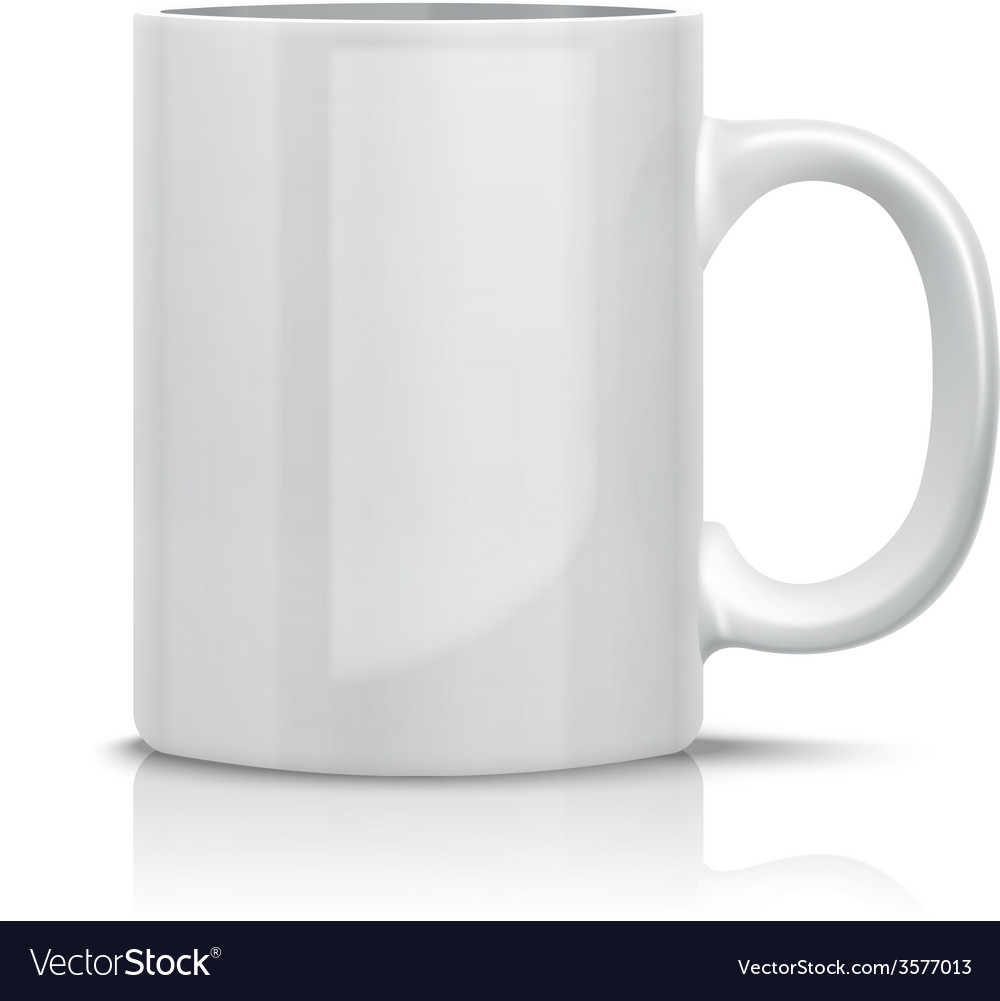 Classic white cup vector | Price: 1 Credit (USD $1)