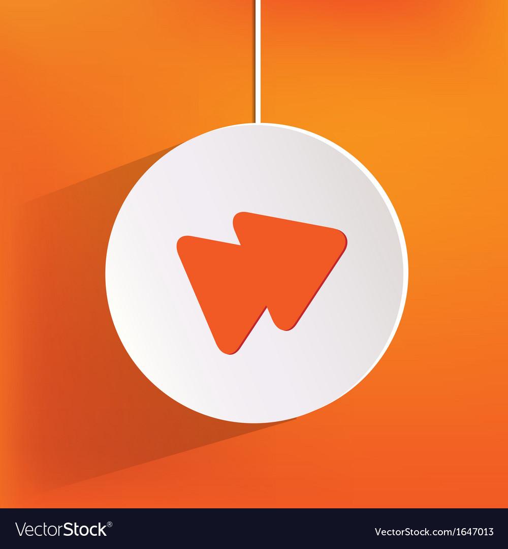 Forward or skip web icon vector | Price: 1 Credit (USD $1)