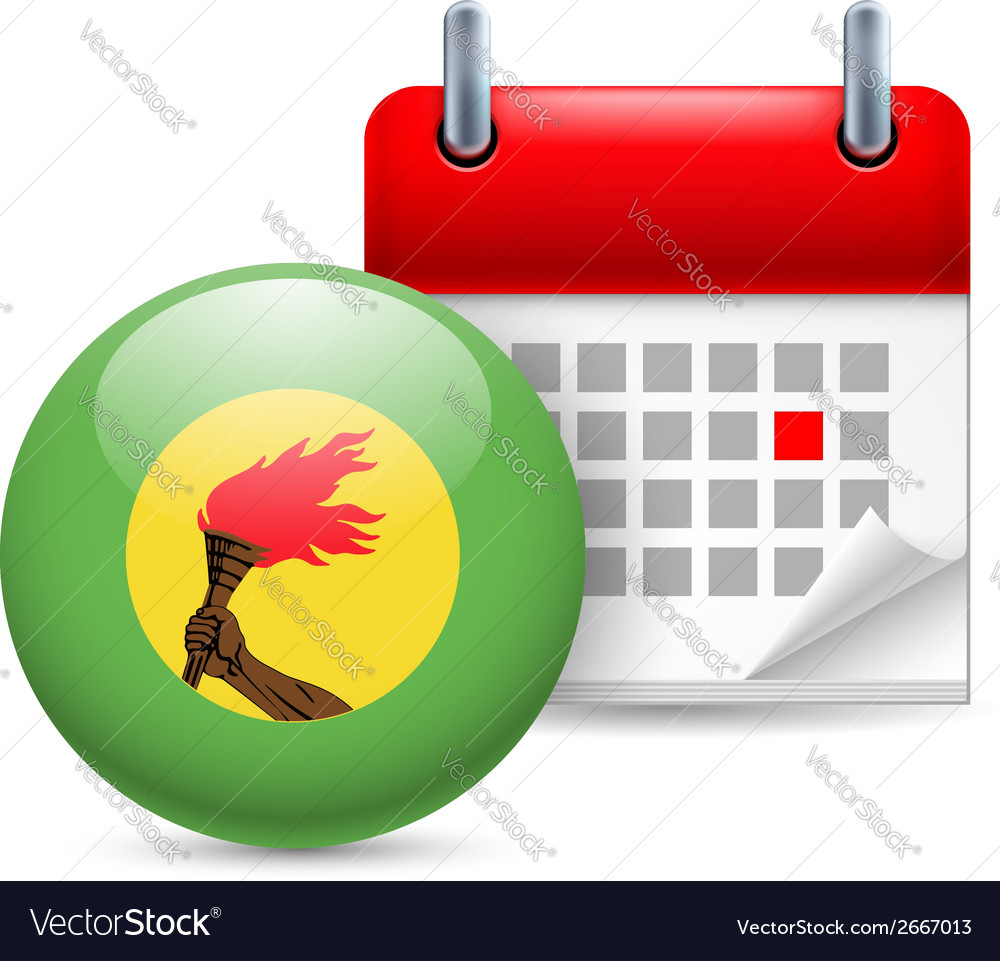 Icon of national day in zaire vector   Price: 1 Credit (USD $1)