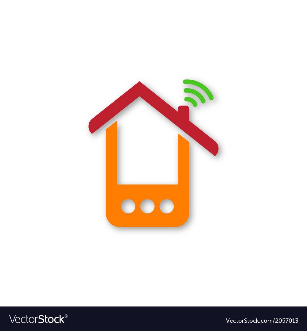Orange phone house vector | Price: 1 Credit (USD $1)